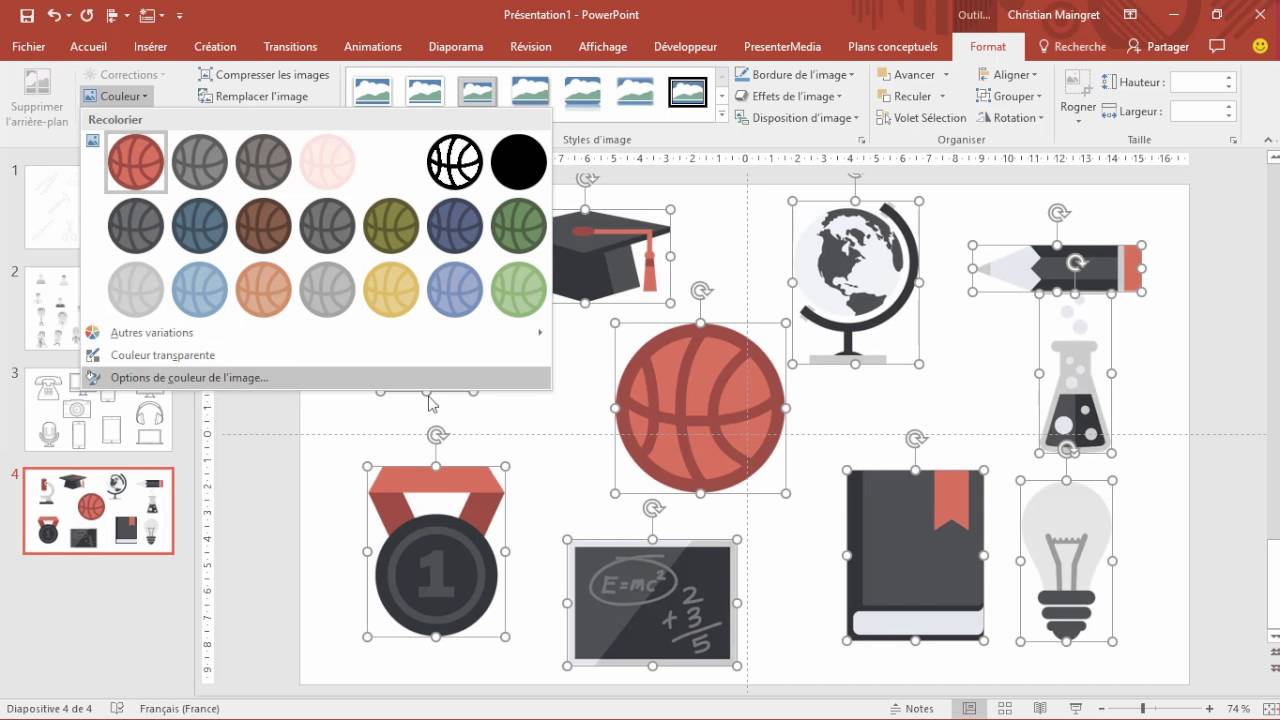 1792f20cc970a Comment, en deux clics, modifier les couleurs de vos visuels dans Powerpoint