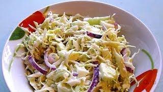 Салат из капусты видео рецепт UcookVideo.ru