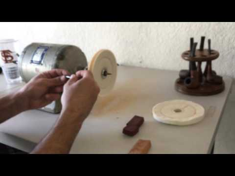 Baldor 353T Estate Pipe Restoration Series How To Clean Tobacco Pipe Buffing Stem - Part 5