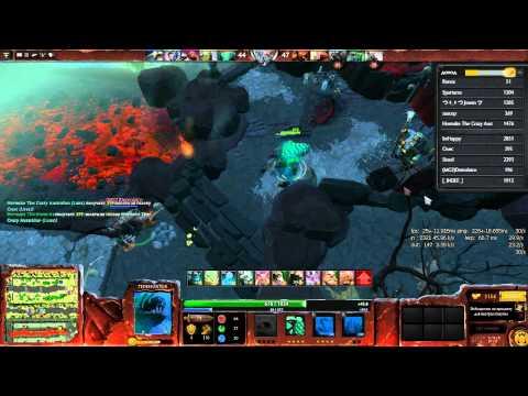 видео: dota 2 modd. hero line wars. Большой и зелёный арбуз с якорем!!! :3