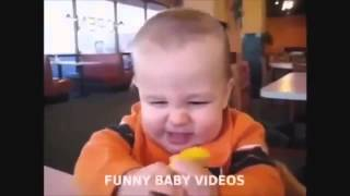 Funny Kids react to gifts Funny babies accidents compilation   Funny kids 2015