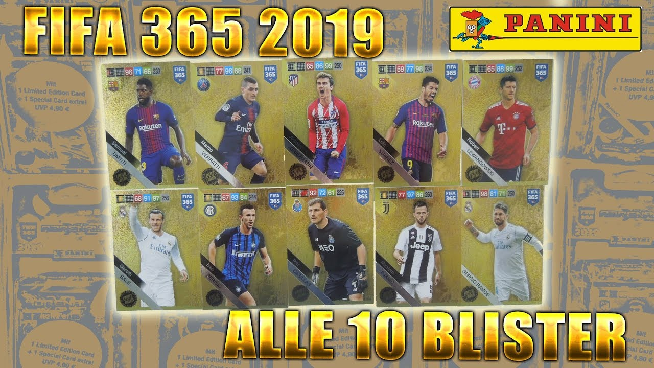 Fifa 365 2019 Adrenalyn Xl All 10 Different Blister Packs All Limited Edition Cards