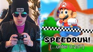 Ich versuche Mario 64 in unter 25 Minuten durchzuspielen..