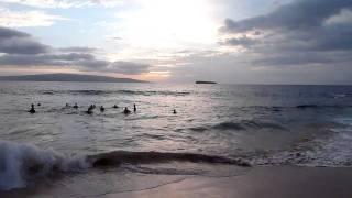 sunset drum circle little beach maui