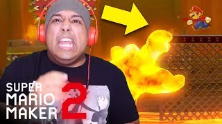 Y'ALL MAKING THESE LEVELS TOO HARD!!! PAUSE!!  [SUPER MARIO MAKER 2] [#03]