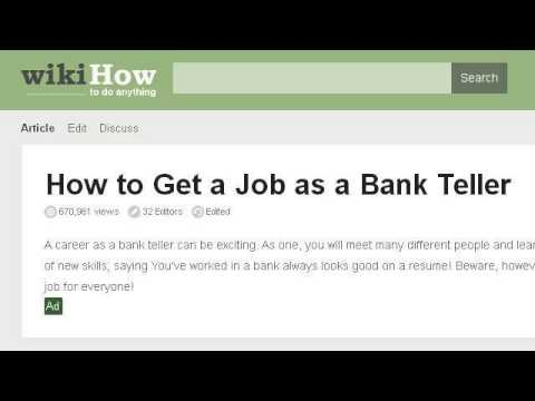 How-To Be A Successful Bank Teller
