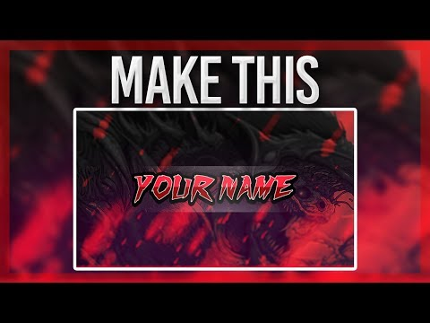 HOW TO MAKE A YOUTUBE GAMING BANNER WITH PAINT.NET PART 1!