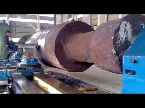 Heavy Duty Face Lathe Machine to Process Rotor Shaft or axle/120T load