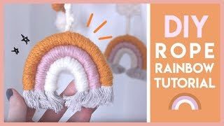 How To Make a Woven Rainbow Wall Hanging / Mobile DIY