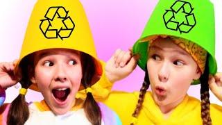 Clean Up Trash Song | Nursery Rhymes & Kids Songs by Miss Emi