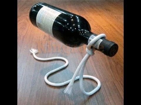Rope Wine Bottle Holder By G H