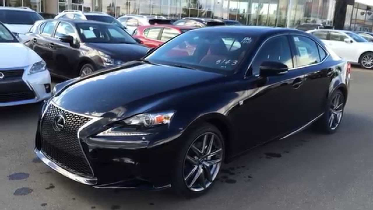 2015 lexus is 250 awd f sport series 3 review black on rioja red west edmonton youtube. Black Bedroom Furniture Sets. Home Design Ideas