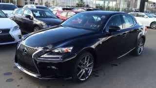2015 Lexus IS 250 AWD F Sport Series 3 Review - Black on Rioja Red - West Edmonton