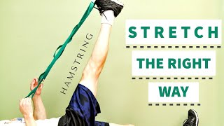 BEST Daily Hamstring Flexibility Routine at Home, The RIGHT WAY!
