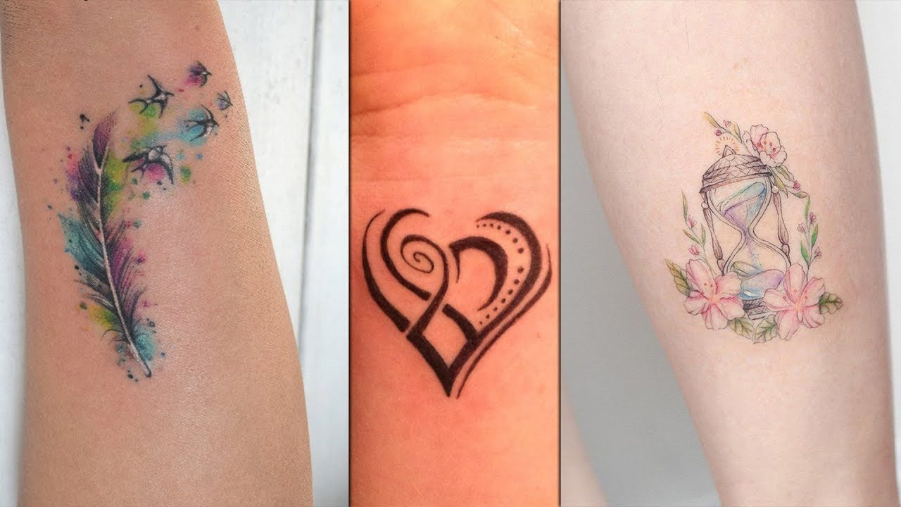 Small Tattoo Designs For Girls: Colorful Small Tattoo Designs For Girls