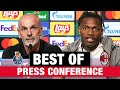 Pioli and Leão Press Conference on the eve of Porto v AC Milan   Champions League