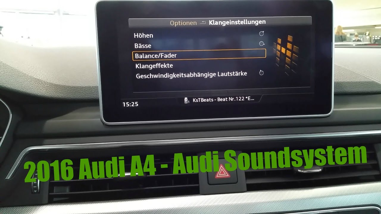 2016 audi a4 audi sound system fullhd youtube