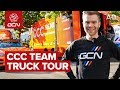 Team CCC Truck Tour   Behind The Scenes At The Tour de France 2019