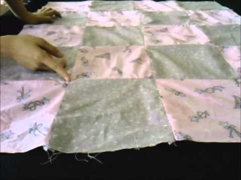 Beginner's Patchwork Quilt Demo (unfinished) - YouTube : quilt making for dummies - Adamdwight.com