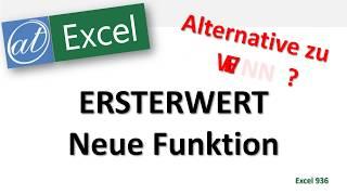 Baixar Funktion ERSTERWERT in Excel - Alternative zu SVERWEIS oder WENN?