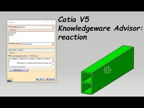 reactions in catia v5 tutorial en espa ol youtube. Black Bedroom Furniture Sets. Home Design Ideas