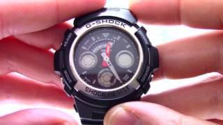 Годинник Casio G-SHOCK AW-590-1A [AW-590-1AER] - Інструкція, як налаштувати від PresidentWatches.Ru