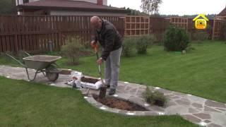 видео Создание газона и клумб