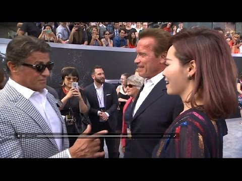 Terminator Genisys Premiere - Jane Zhang, Arnold Schwarzenegger, Sylvester Stallone
