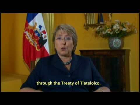 M. Bachelet President of Chile support  the World March