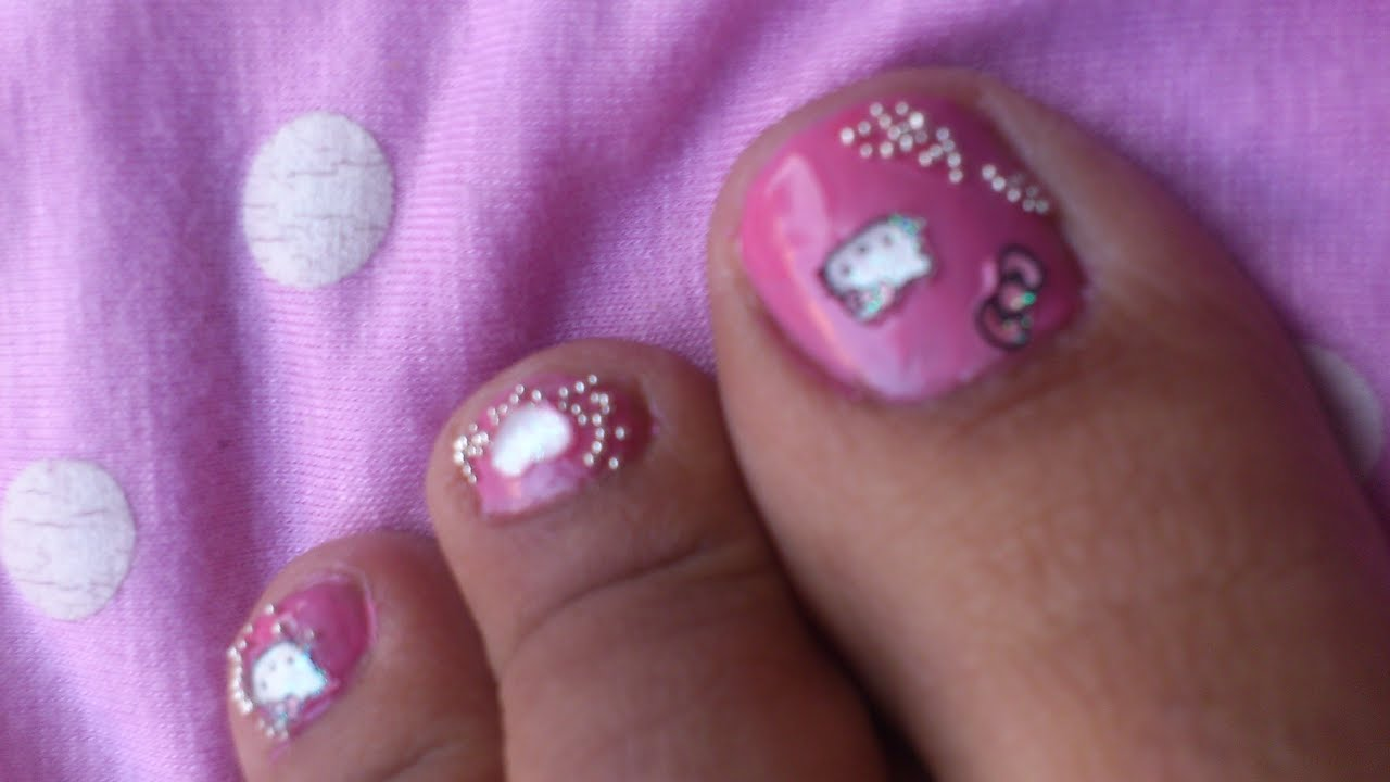 Hello kitty nails toe nail art designs diy video tutorials in hello kitty nails toe nail art designs diy video tutorials in pink nail polish designs youtube prinsesfo Gallery