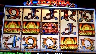 2 BONUSES on CLEOPATRA - 5c IGT  Video Slots