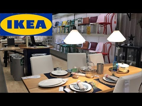 IKEA KITCHEN TABLES CHAIRS DINING ROOM FURNITURE - SHOP WITH ME SHOPPING STORE WALK THROUGH 4K