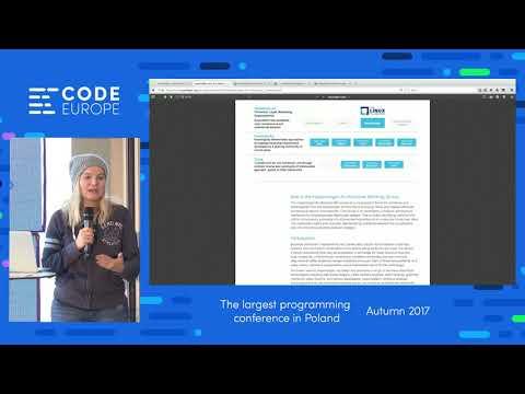 How to develop Blockchain network (...) - lecure by Karolina Marzantowicz - Code Europe Autumn 2017