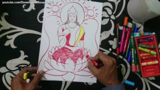 How To Draw Lakshmi Devi Goddess