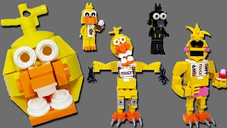 How to Build LEGO Chica (Toy, Withered & Phantom) | LEGO FNAF