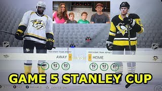 NHL Stanley Cup Playoffs Game 5 Pittsburgh Penguins vs Nashville Predators Predictor Crazy Ending