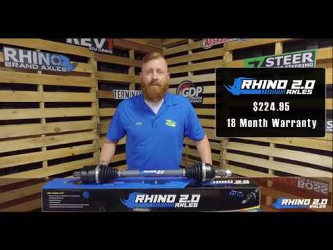 SuperATV Axle Product Line - Heavy-Duty Rhino 2 0