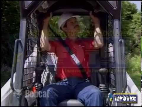 MINICARGADOR BOBCAT  - Operación segura de Cargadores con dirección en las 4 ruedas