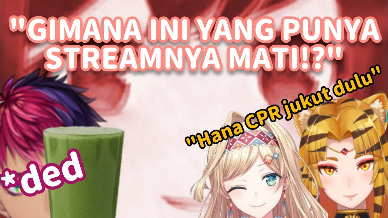 "【Nijisanji ID Clip】 Riksa ""Dead""rendra, Jus Kangkung, dan CPR Hana Macchia"