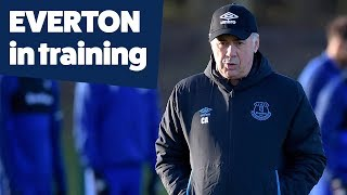 CARLO ANCELOTTI'S FIRST TRAINING SESSION AS EVERTON MANAGER!