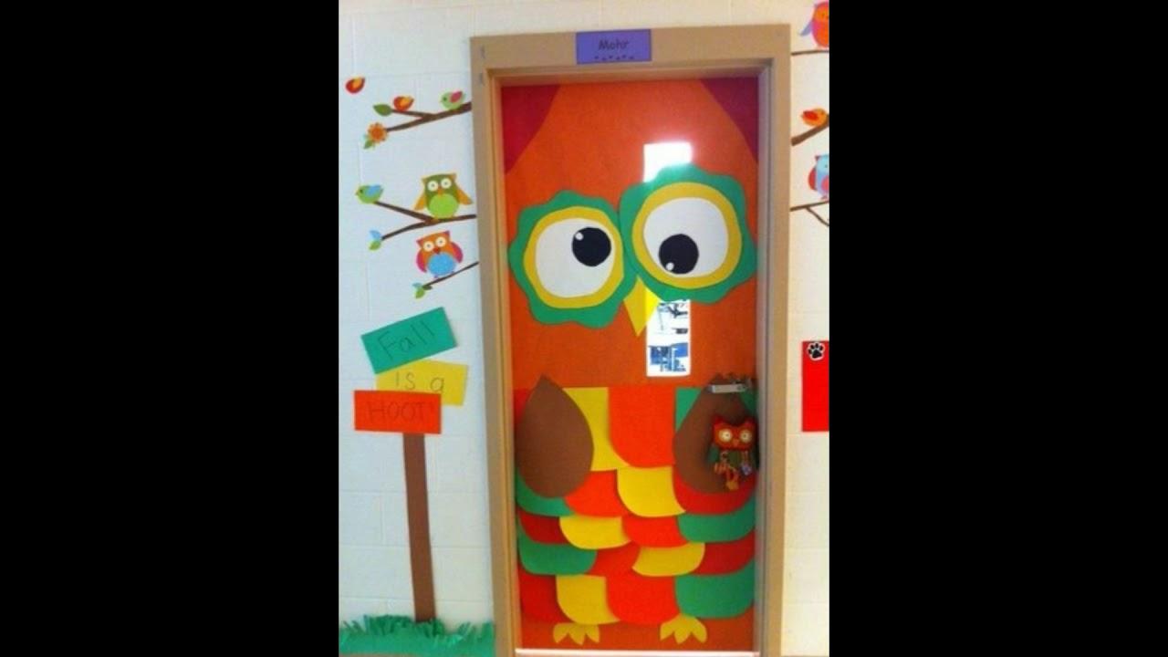 Ideas para decorar la puerta del sal n de clase en el for Puertas decoradas para guarderia