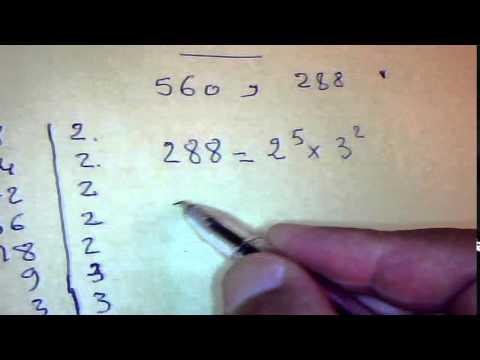 PGCD et PPCM de 2 nombres entiers القاسم المشترك الأكبر و المضاعف المشترك الأصغر