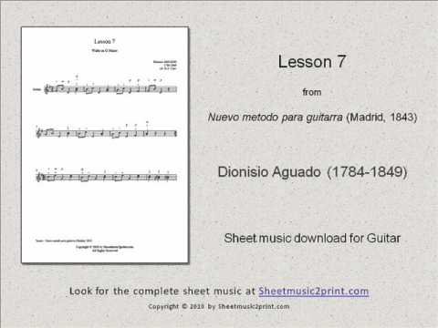 Aguado : Lesson 7 (New Guitar Method)