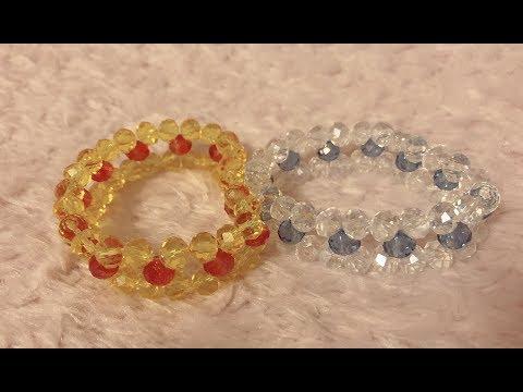 DIY Crystal Bracelet  水晶串珠教学 手工制作水晶手链