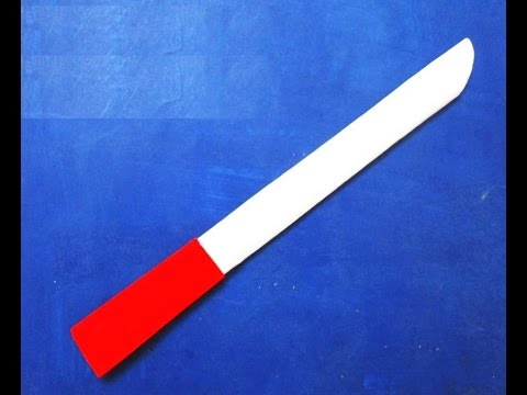 How To Make a Paper Sword - Paper Weapons