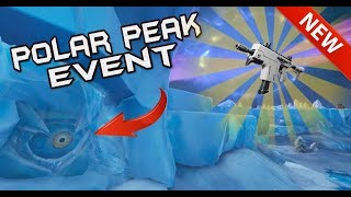 FORTNITE POLAR PEAK EYEBALL EVENT - HUGE MONSTER BREAKING FREE - NEW BURST SMG CONTENT UPDATE