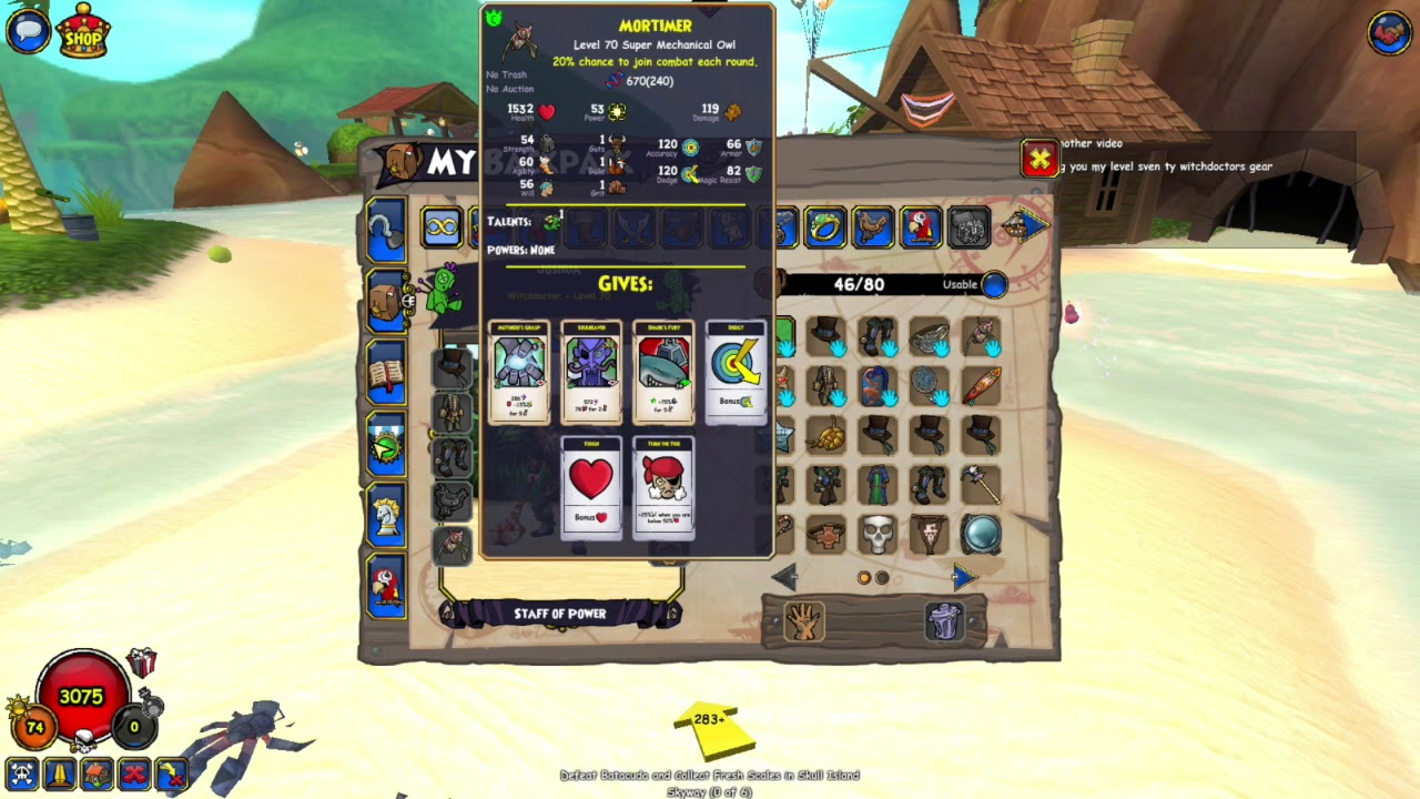 Pirate101 witch doctor build