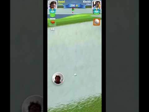 Golf Clash - 2018-02-17 world links under pressure shot never give up😎