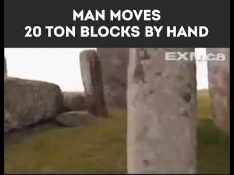 Man moves 20 ton block by hand youtube man moves 20 ton block by hand sciox Images