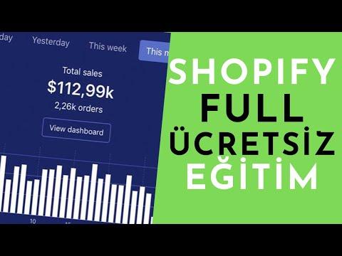 SHOPIFY DROPSHIPPING - Mağaza Kurulumu, Ürün Ekleme, Uygulamalar FULL ANLATIM